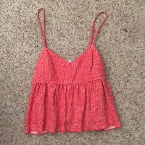 Urban Outfitters Babydoll Red Cami